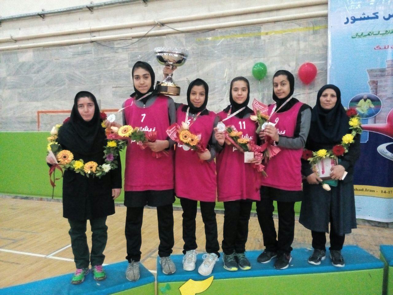 دانش آموزان نیشابوری نایب قهرمان مسابقات بسکتبال کشور