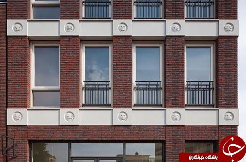 ساختمان مسکونی که با شکلک های فضای مجازی مزین شد+تصاویر