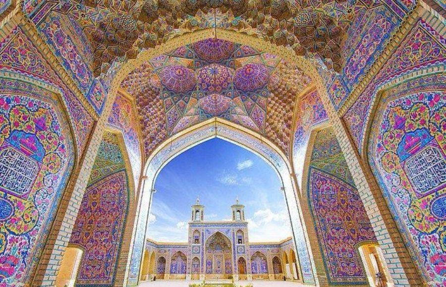 باشگاه خبرنگاران -نمایی متفاوت و دیدنی از مسجد نصیر الملک