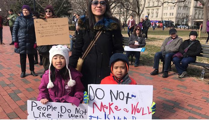 برگزاری تظاهرات ضدترامپی سراسری در آمریکا در روز رئیسجمهور + تصاویر