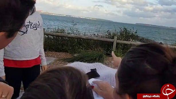 آخرین آرزوی بیمار سرطانی در ساحل دریا برآورده شد! + تصاویر