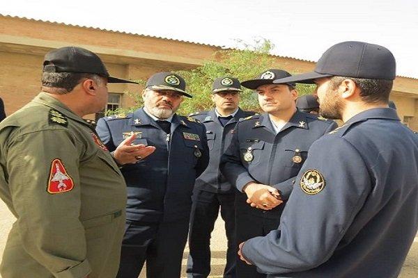 فرمانده نیروی هوایی ارتش از پایگاه شکاری شهید اردستانی بازدید کرد