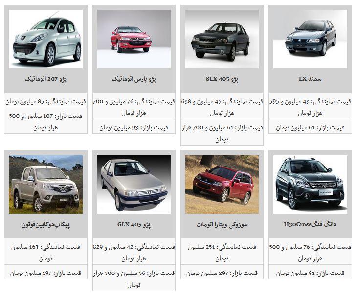 قیمت برخی خودروهای داخلی افزایش یافت + جدول