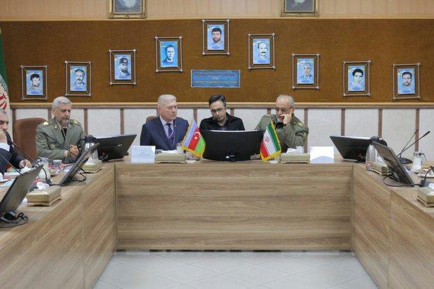 بازدید هیئت نظامی جمهوری آذربایجان از دانشگاه دافوس ارتش