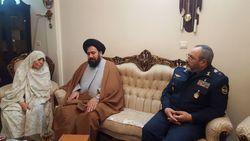 دیدار فرمانده نیروی هوایی ارتش با مادر شهیدان باقری و ملایری