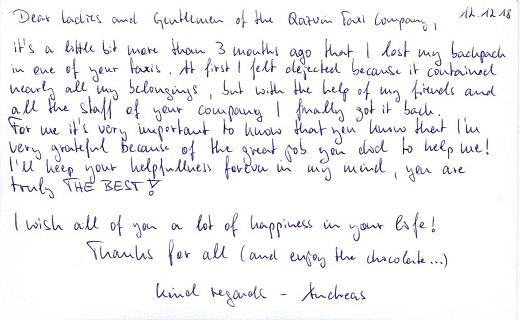 قدردانی گردشگر آلمانی از تاکسیرانی قزوین