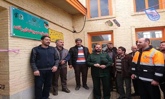 افتتاح پایگاه بسیج شهدای راننده در پایانه کالا همدان