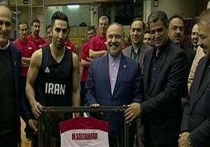 باشگاه خبرنگاران -تمرین تیم ملی بسکتبال با حضور وزیر ورزش + فیلم