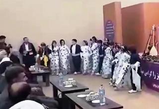 اجرای رقص مختلط در برابر مدیرکل ارشاد اسلامی آذربایجانغربی