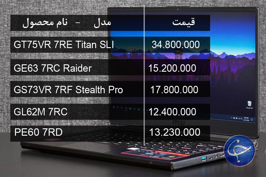 آخرین قیمت انواع لپ تاپ در بازار (تاریخ ۱۲ اسفند) +جدول