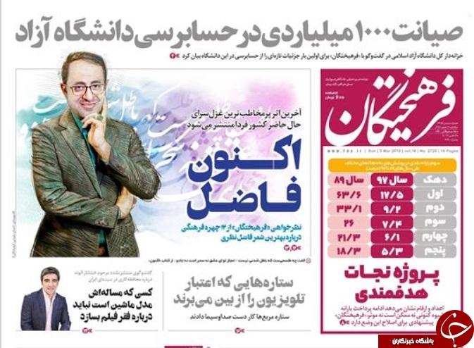 صفحه نخست روزنامههای ۱۲ اسفند؛