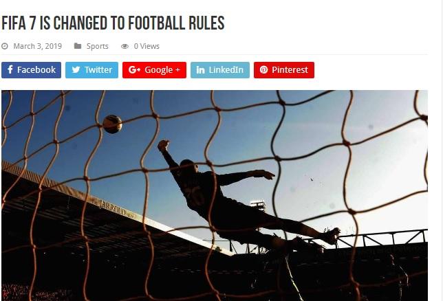 قوانین فوتبال تغییر کرد