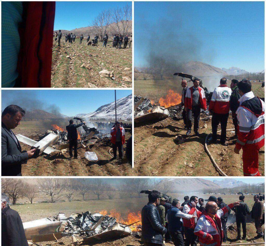 سقوط بالگرد اورژانس در چهارمحال و بختیاری + تصاویر