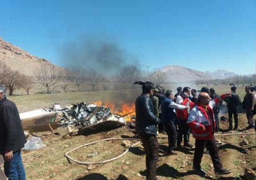 سقوط بالگرد اورژانس در چهارمحال و بختیاری/ 5 سرنشین بالگرد جان باختند + تصاویر