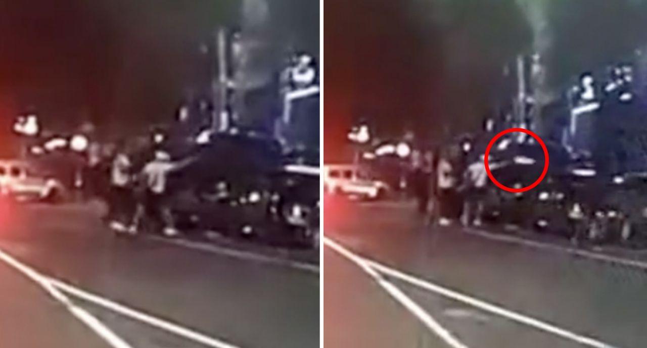 لحظه کشته شدن مرد جوان در مقابل باشگاه بوکس! + فیلم////