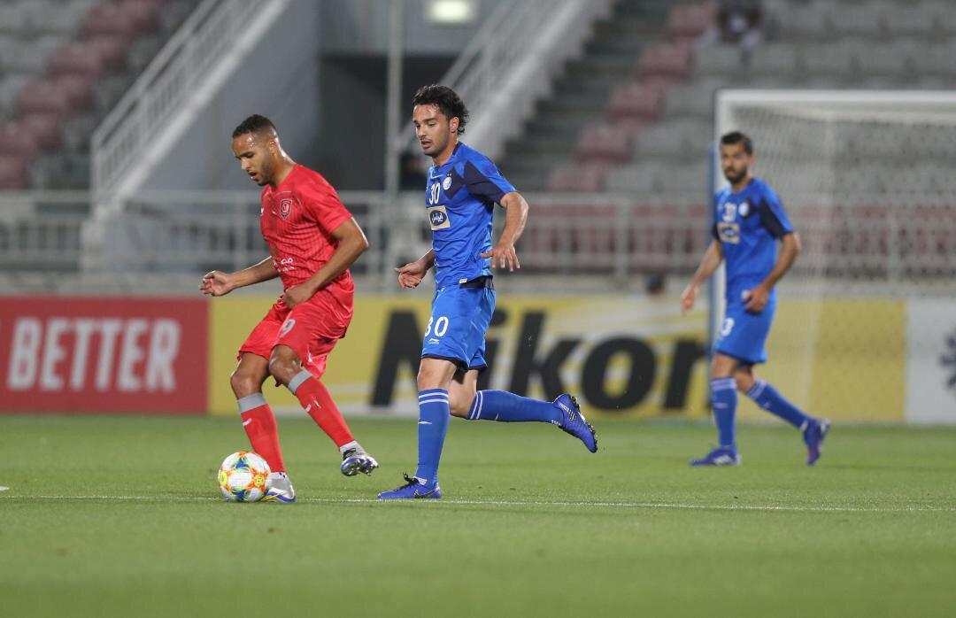 الدحیل قطر ۰ - ۰ استقلال ایران/ پایان نیمه نخست