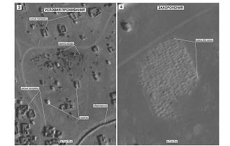 تصاویر ماهوارهای از کشف گورستانی با ۳۰۰ قبر جدید در نزدیکی اردوگاه الرکبان