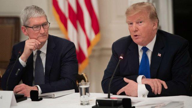 گاف دوباره ترامپ در تلفظ نام مدیرعامل شرکت اپل!