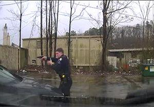 شلیک ۱۵ گلوله توسط پلیس آمریکا به سارق خودرو + فیلم