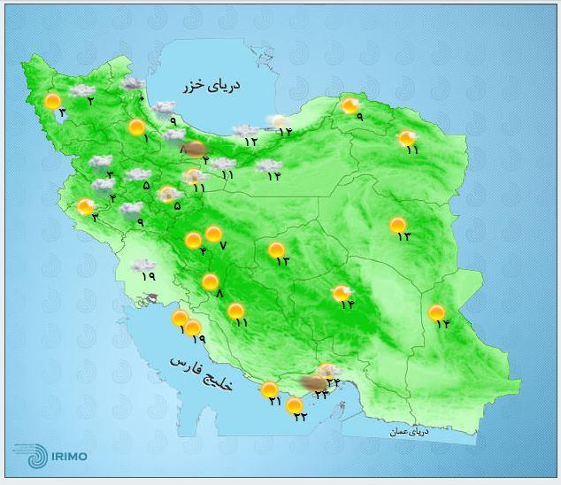 سامانه بارشی در شمال غرب کشور/آغاز بارش در شمال شرق