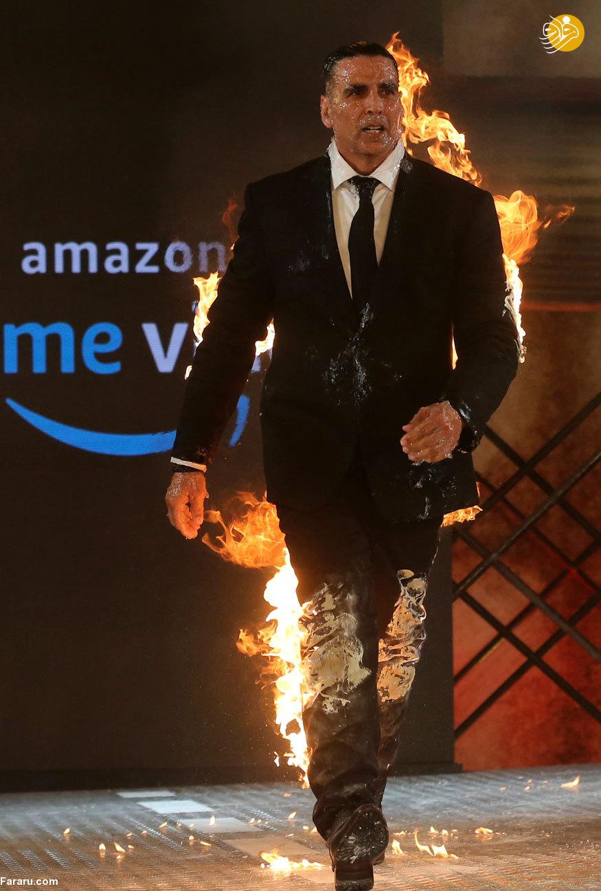 آقای بازیگر خود را به آتش کشید! + تصاویر