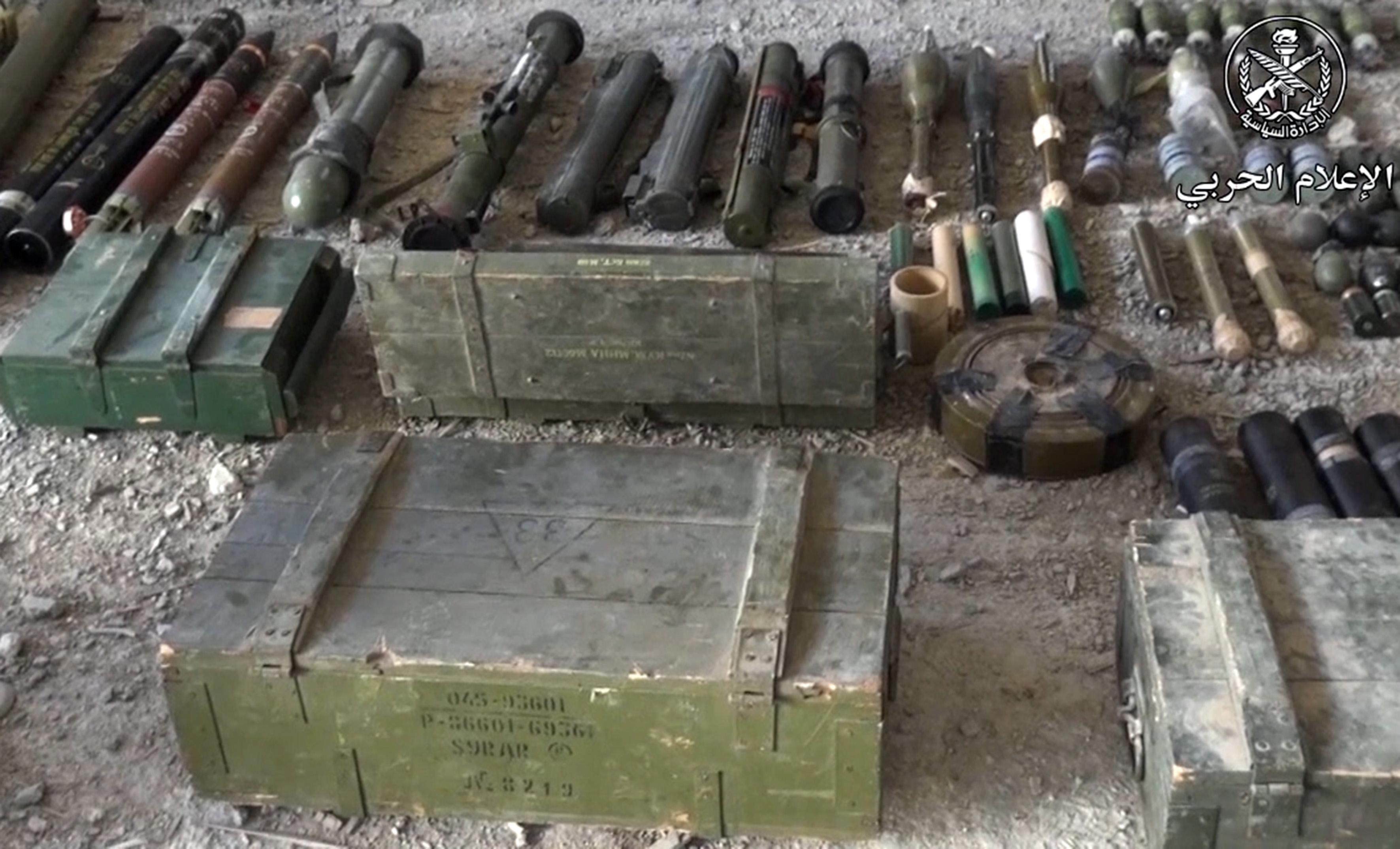 کشف سلاحهای آمریکایی و اسرائیلی تروریستها در شهرک یلدای سوریه + تصاویر