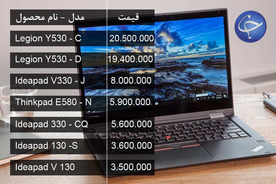 آخرین قیمت انواع لپ تاپ در بازار (تاریخ ۲۱ اسفند) +جدول
