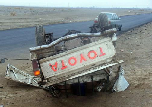 ۷ کشته و مجروح در واژگونی خودرو تویوتا محور جنوب سیستان وبلوچستان