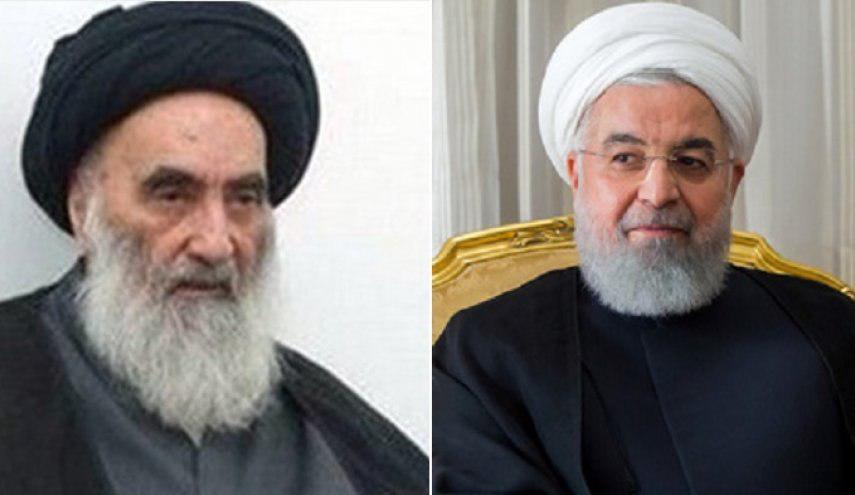رئیسجمهور با  آیت الله سیستانی دیدار کرد