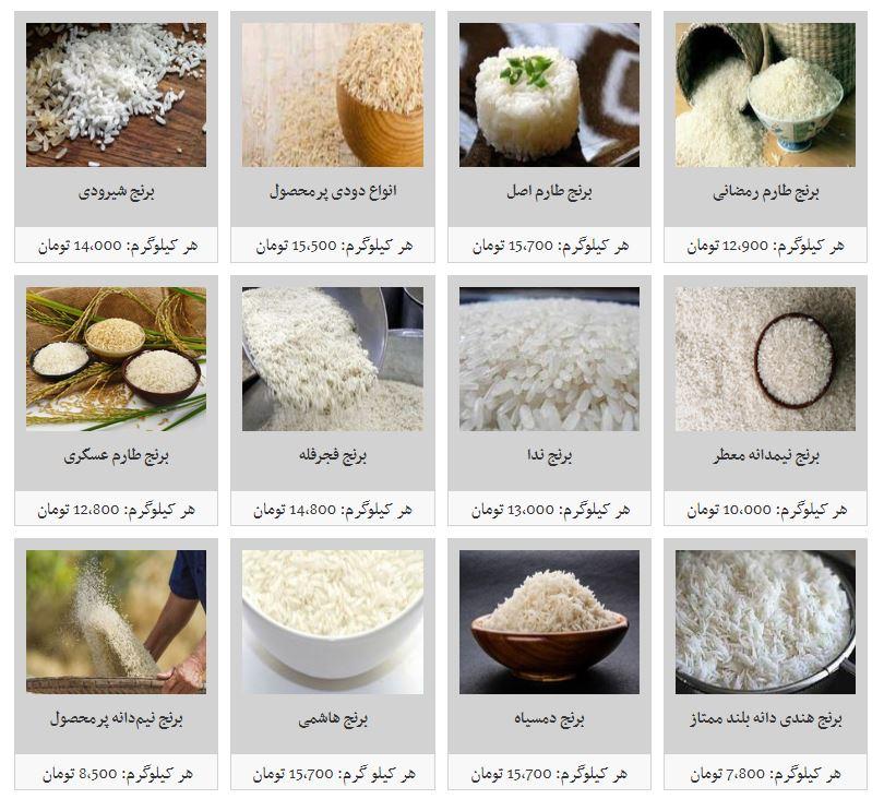 مظنه فروش برنج در بازار چقدر است؟