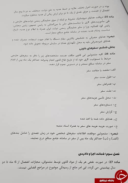 متن کامل طرح تعارض منافع+ امضای نمایندگان