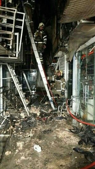 آتشسوزی شبانه در بازار تهران+ عکس