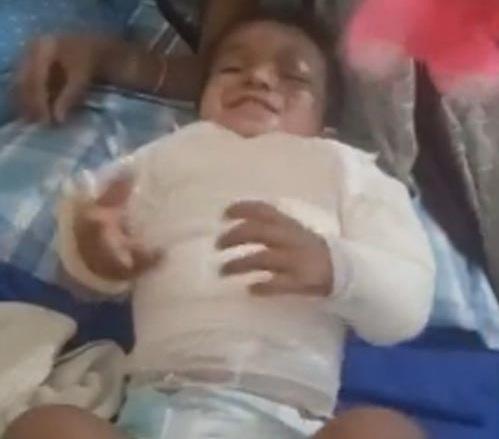 نجات معجزه آسای کودک دو ساله بعد از سقوط از سه طبقه+فیلم
