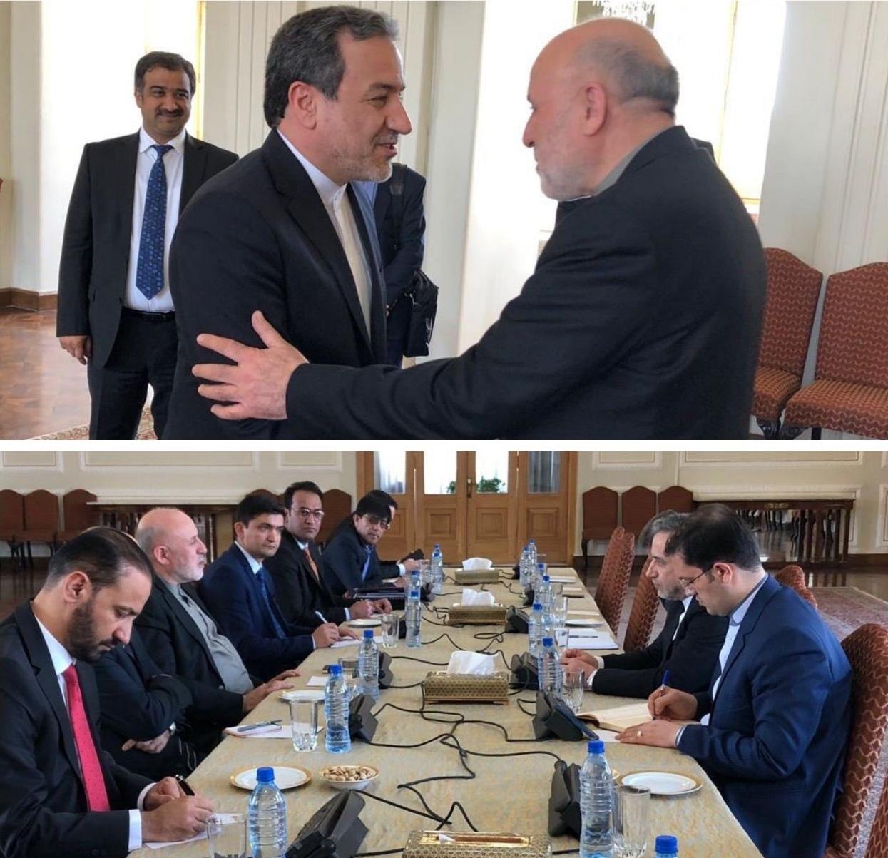 دیدار نماینده ویژه رئیس جمهور افغانستان با معاون سیاسی وزیر امور خارجه ایران