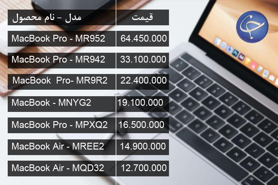 آخرین قیمت انواع لپ تاپ در بازار (تاریخ ۲۶ اسفند) +جدول