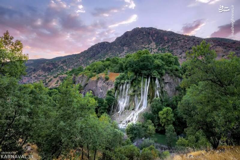 نمایی دیدنی از آبشار بیشه لرستان
