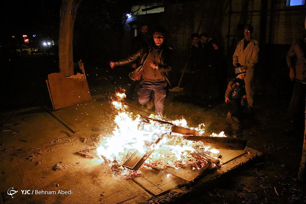 سنت چهارشنبه سوری که به جای شادی به ندامت می رسد