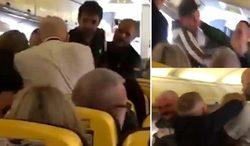 مسافران مست هواپیما را به رینگ بوکس تبدیل کردند! +فیلم
