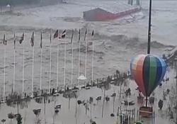پارک ملل ساری زیر آب رفت! + فیلم