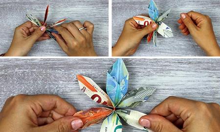 آموزش تصویری تزیین پول عیدی