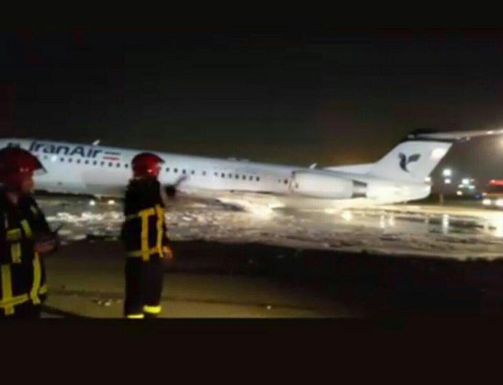 آتش سوزی هواپیما در فرودگاه مهرآباد/ حادثه مصدوم یا فوتی نداشت