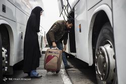 مسافران نوروزی در پایانه مسافربری غرب تهران
