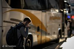 مسافران نوروزی در پایانه اتوبوسرانی بیهقی