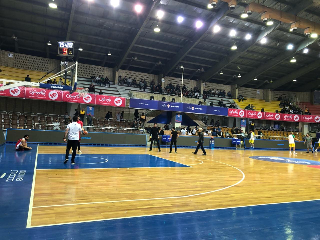 حواشی پیش از دیدار تیمهای ملی بسکتبال ایران - استرالیا