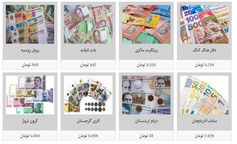 قیمت دلار و نرخ تمامی ارزها در بازار آزاد