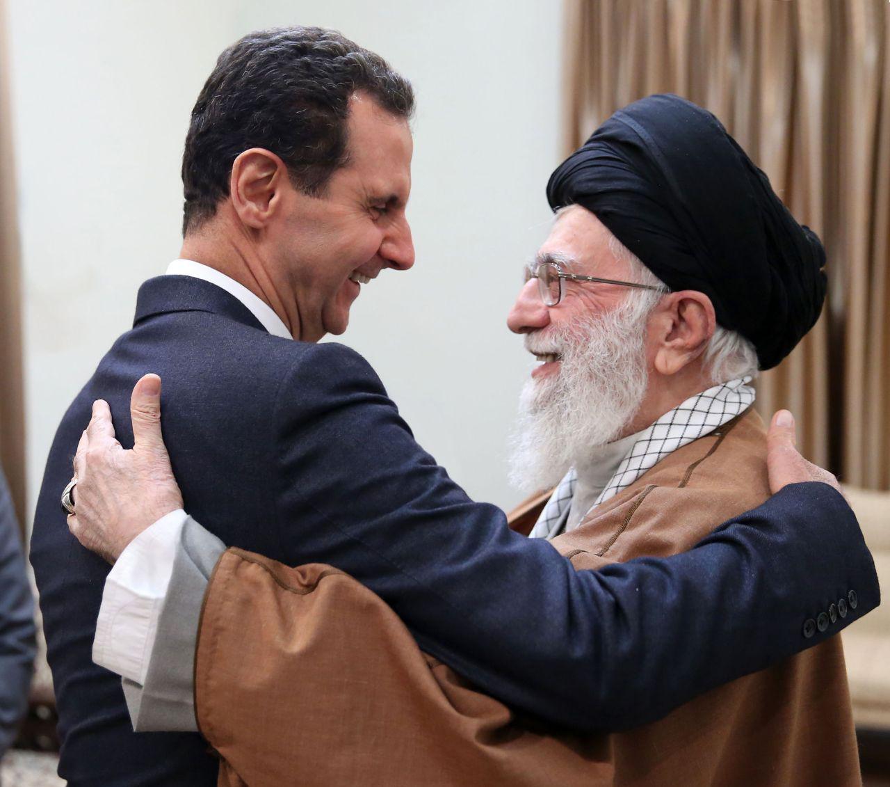تصویری جذاب از دیدار بشار اسد و رهبر انقلاب +عکس