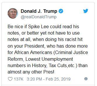 واکنش ترامپ به صحبتهای کارگردان سیاه پوست اسکار