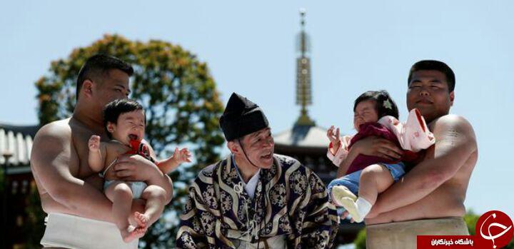 رسم عجیب ژاپنی ها پیش از آغاز مسابقات کشتی ژاپنی! تصاویر
