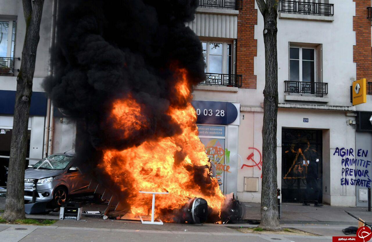 دستگیری بیش از ۲۰۰ نفر در تظاهرات معترضان به نظام سرمایه داری در فرانسه+ تصاویر