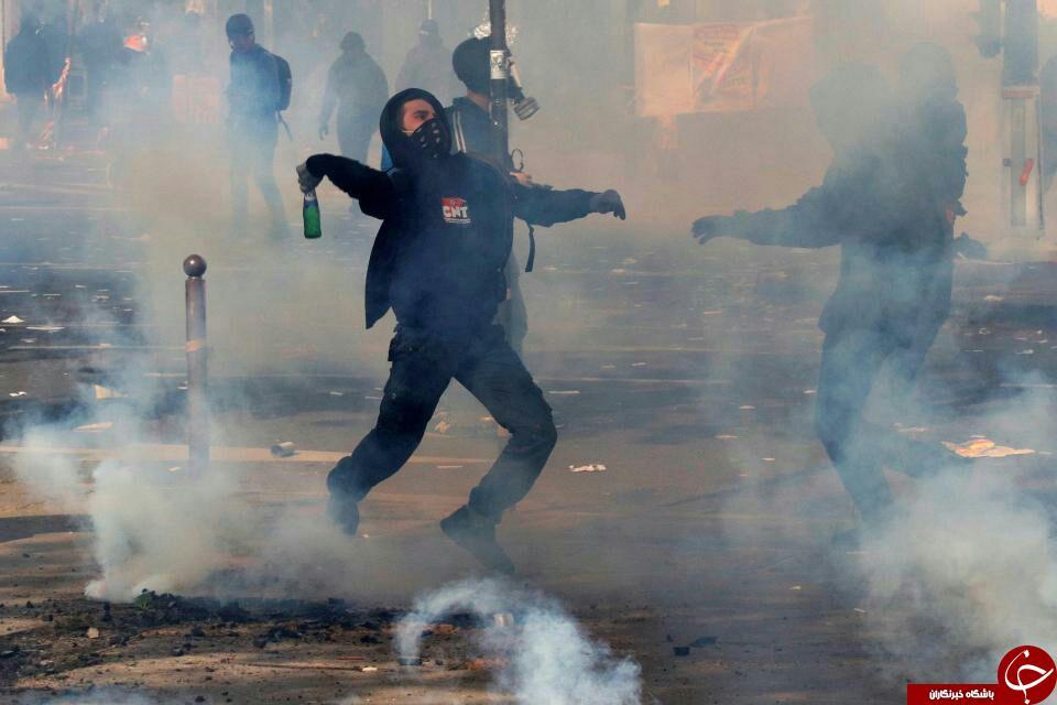 دستگیری بیش از ۲۰۰ نفر در تظاهرات معترضان به نظام سرمایهداری در فرانسه+ تصاویر